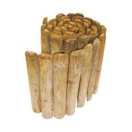 Bordure demi rondins - Bordure jardin demi rondin bois ...