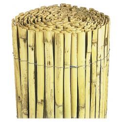 Canisse de bambou refendu