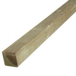 Poteau carré raboté 7x7cm