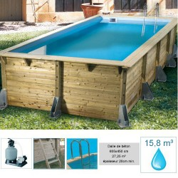 Piscine rectangulaire CORFU 505x350