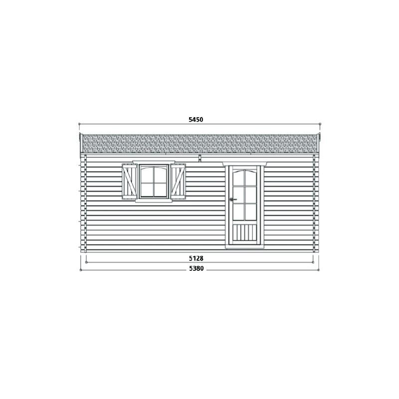 Garage en bois umea avec porte sectionnelle - Peindre porte garage bois ...