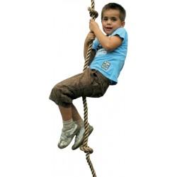 Echelle de corde à noeuds