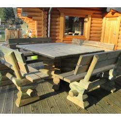 Table ardennaise - carrée 150x150cm