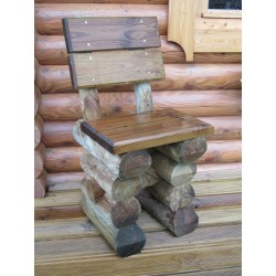 Chaise ardennaise en rondins