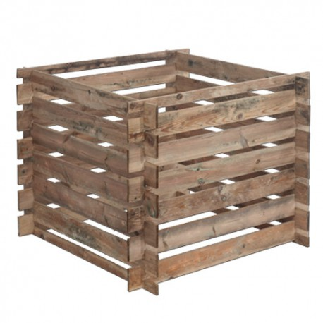 Silo à compost en bois