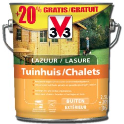 V33 Lasure CHALETS SATIN