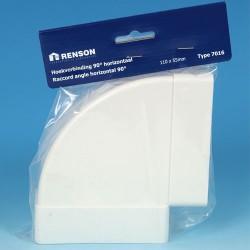 Coude PVC horizontal