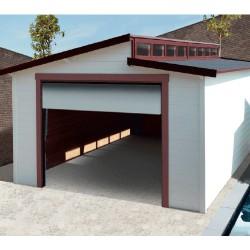 Garage en bois TORINO avec porte sectionnelle