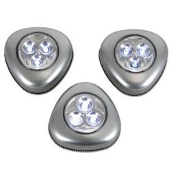 Set 3 lampes LED sur piles