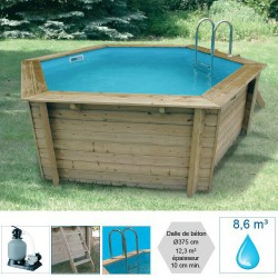 Piscine hexagonale CORFU 410