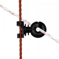 Isolateur règlable pour piquet fer