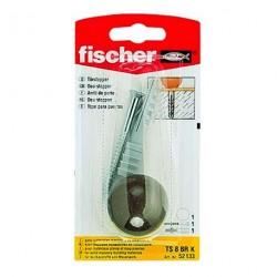 Blister arrêt de porte + fixation blanc Fischer