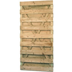 Porte de jardin en pin traité