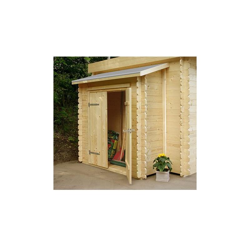 Remise simple porte pour chalet de jardin