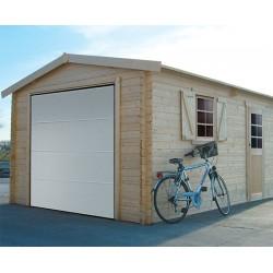 Garage en bois UMEA avec porte sectionnelle