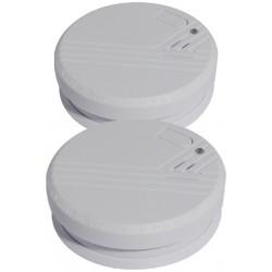 Set 2 détecteurs de fumée optiques 1an