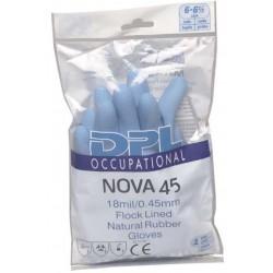 Gants de ménage latex bleu NOVA 45