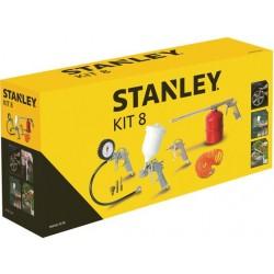 Kit 8 accessoires pneumatiques STANLEY