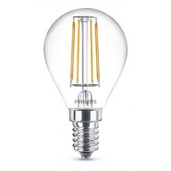 Ampoule Boule LED PHILIPS Claire E14 ~40W WW ND
