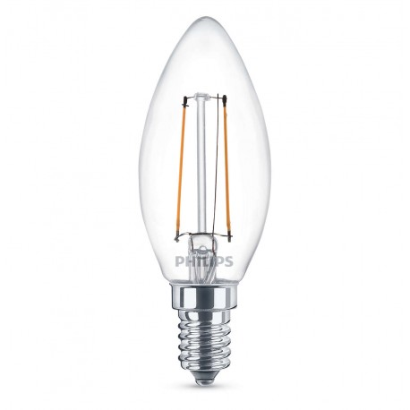 ampoule flamme led philips claire e14 25w. Black Bedroom Furniture Sets. Home Design Ideas