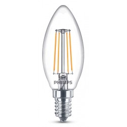 Ampoule flamme PHILIPS LED Classic E14 ~40W