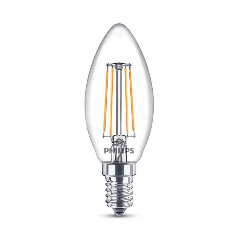ampoule flamme led philips claire e14 40w. Black Bedroom Furniture Sets. Home Design Ideas