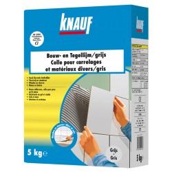 KNAUF Colle carrelages et mat.div. 5kg - gris