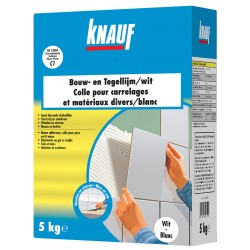 KNAUF Colle carrelages et mat.div. 5kg - blanc