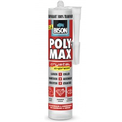 Colle de montage BISON POLYMAX Cristal
