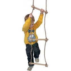 Echelle de corde en bois