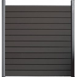 Kit écran en bois composite anthracite