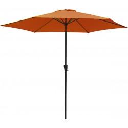 Parasol aluminium rond Ø 3m - Terracotta