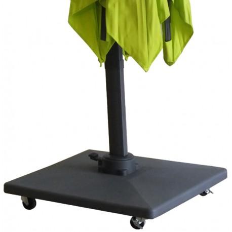 Pied De Parasol A Roulette.Pied Pour Parasol Excentre Paris 70kg
