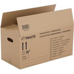 Boîte de rangement en carton 54L