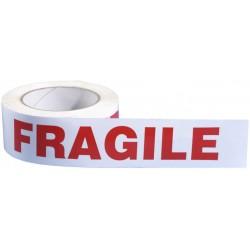 Rouleau adhésif mention 'Fragile'