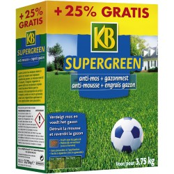 Engrais gazon + anti-mousse KB Supergreen