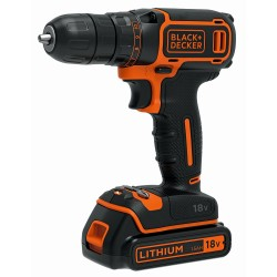 BLACK & DECKER Perceuse-Visseuse sans fil BDCDC18B-QW