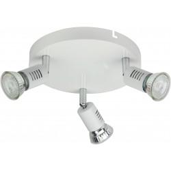 FOGGIA Plafonnier 3 spots LED blanc