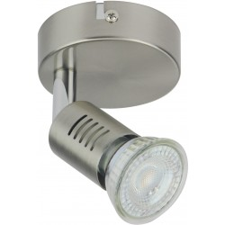 FOGGIA Spot simple LED acier brossé