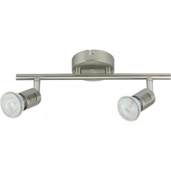 FOGGIA Barre 2 spots LED acier