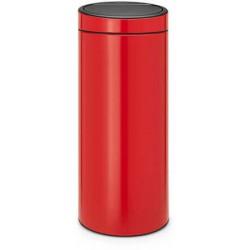 Poubelle BRABANTIA TouchBin 30L Rouge