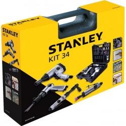 Set outils pneumatiques STANLEY 34pcs