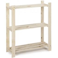 Etagère bois 3 tablettes 95x80x30cm