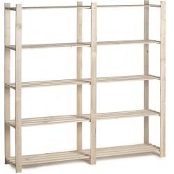 Etagère bois 5 tablettes 175x175x40cm