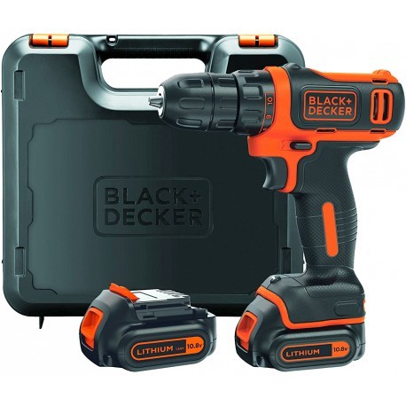 BLACK & DECKER Perceuse-Visseuse sans fil BDCDD12KB-QW