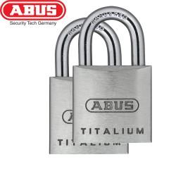 Set 2 Cadenas ABUS Titalium 64/20