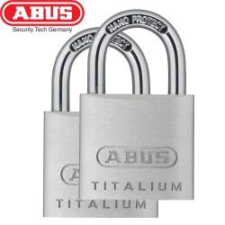 Set 2 Cadenas ABUS Titalium 64/30