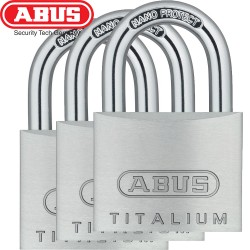 Set 3 cadenas ABUS Titalium 64/40