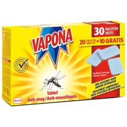 Tablettes Anti-moustiques 20+10 VAPONA