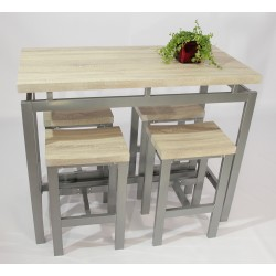 Set table haute et tabourets LE MANS